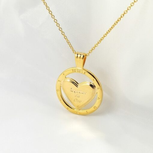 NHS Supporting 18k Gold Plated Together As One Pendant Necklace