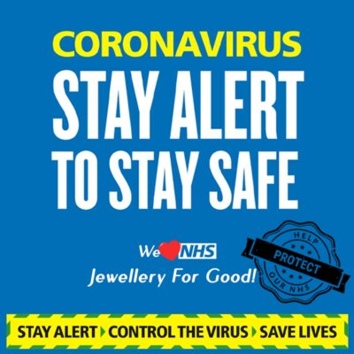 Coronavirus stay alert to stay safe united kingdom message - Delis & Co. Jewellery